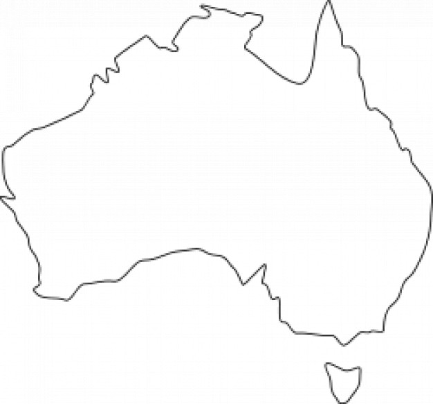 Line Drawing Map Of Australia : Blank map of australia clipart best