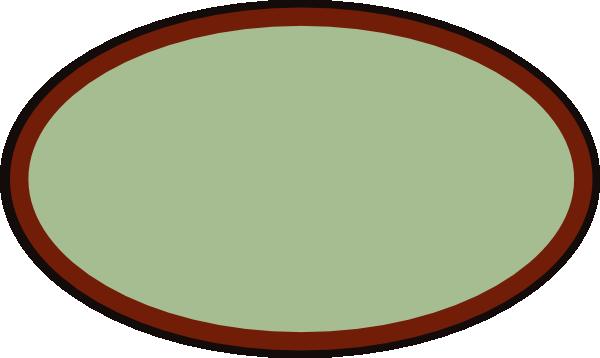 brown oval frame clip art vector clip art online
