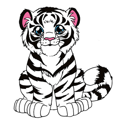 Cartoon White Tiger - ClipArt Best