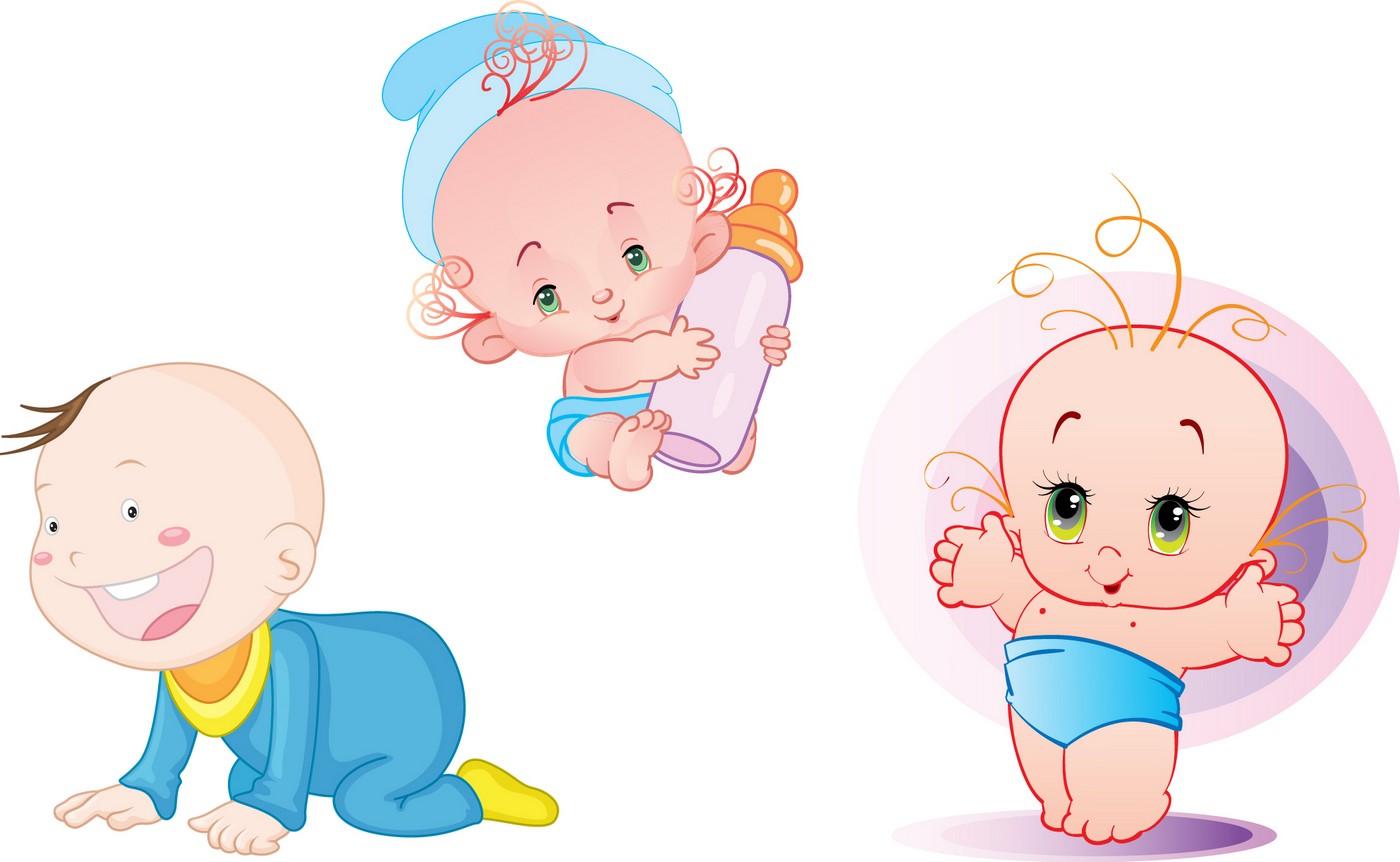 Cartoon Baby, Children, Kids 08 Vector EPS Free Download, Logo ...