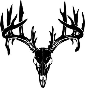Deer Skull Stencil on deer head decal
