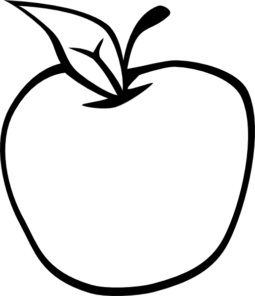 Basket of Apples Clipart Black And White Apple Tree Clipart Black And