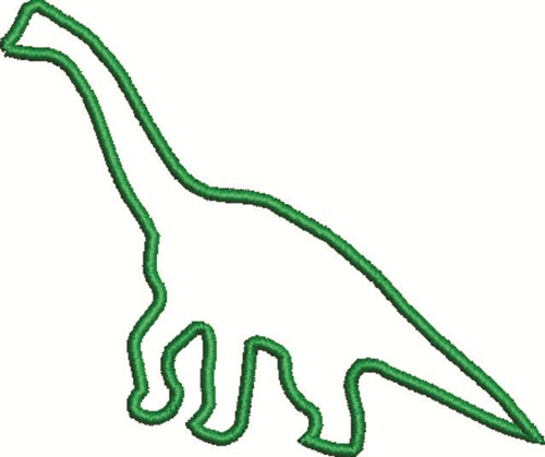 Free dinosaur outline machine embroidery clipart best