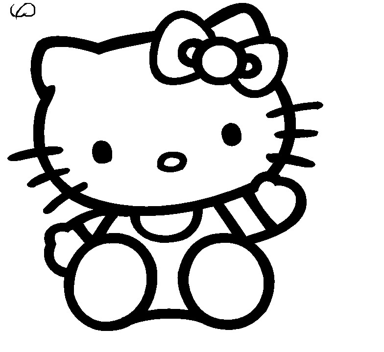 Line Drawing Kitty : Line drawing of hello kitty clipart best