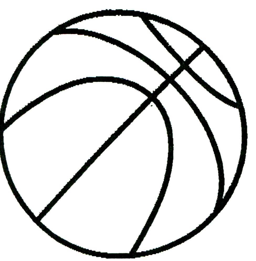 Line Art Design Illustration : Basketball line drawing clipart best