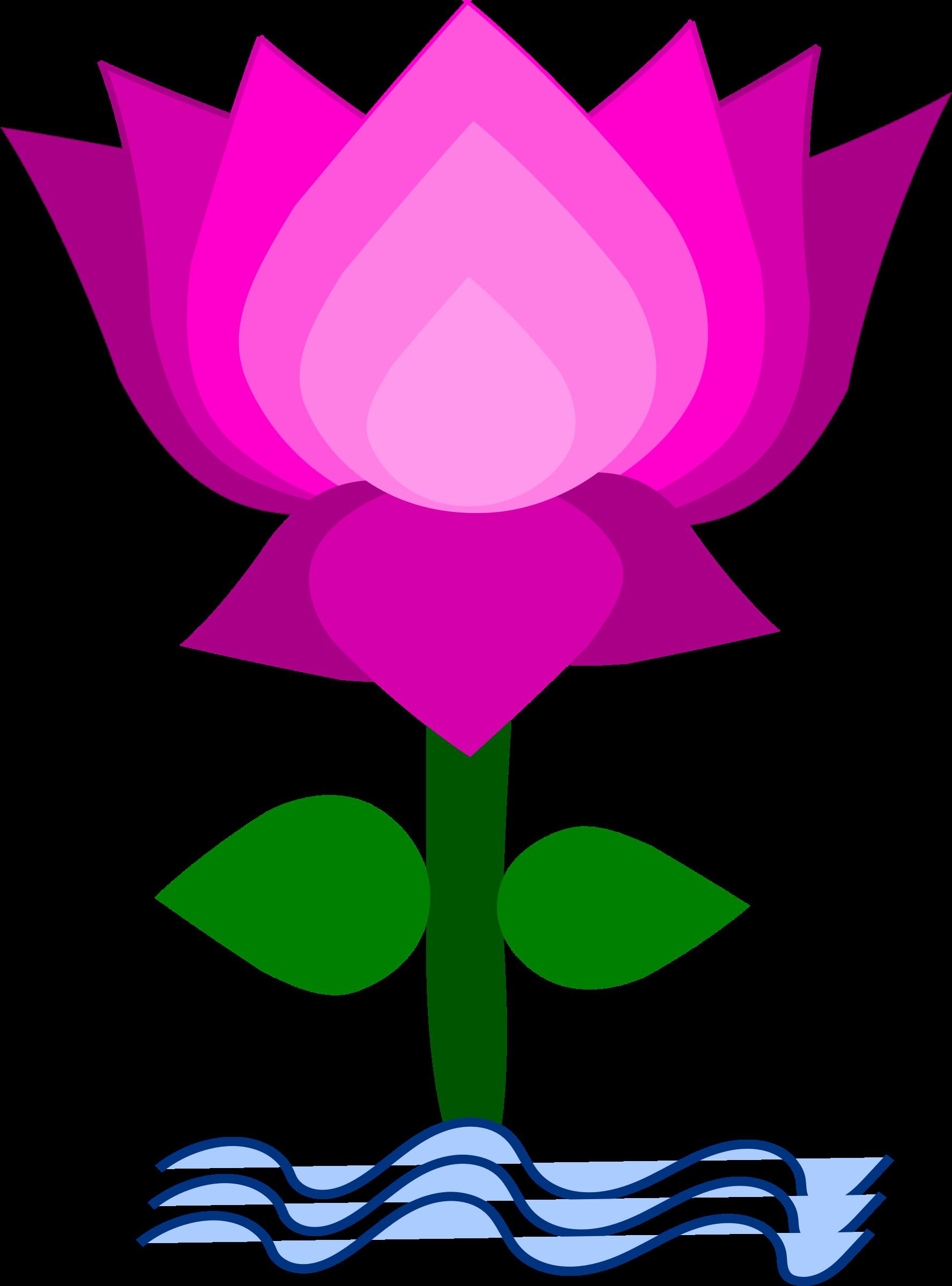free blue lotus flower clip art - photo #23