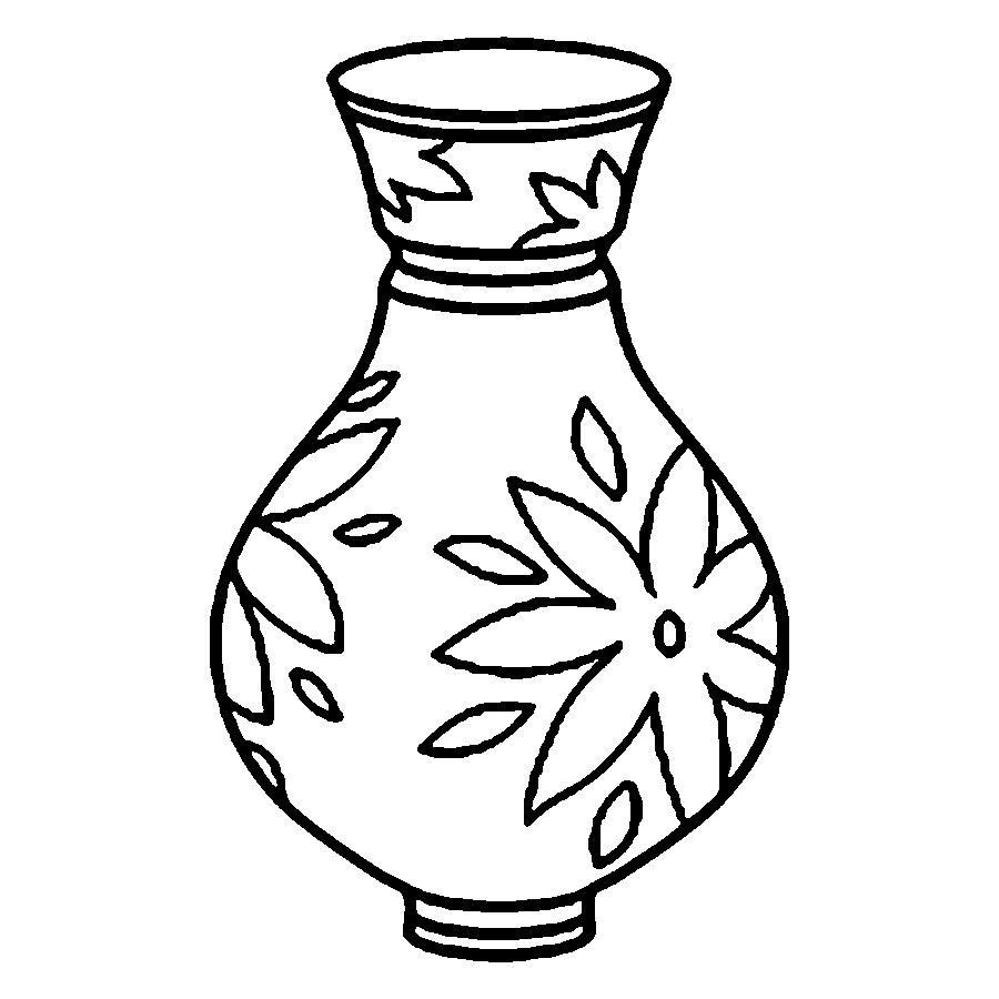 Vase Outline - ClipArt Best