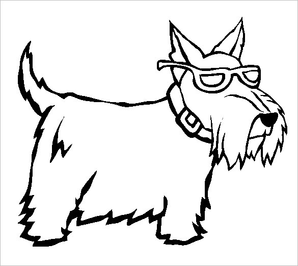 dog template for colouring clipart best