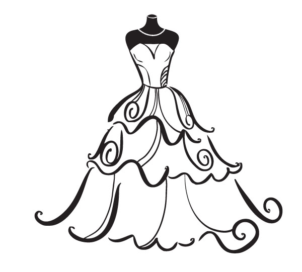 Line Art Wedding : Line art wedding clipart best