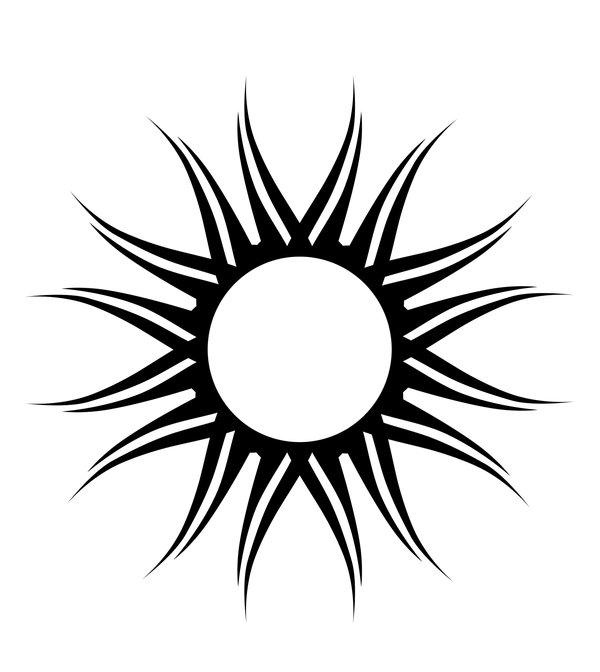 Sun Simple Drawing Simple Sun Drawing
