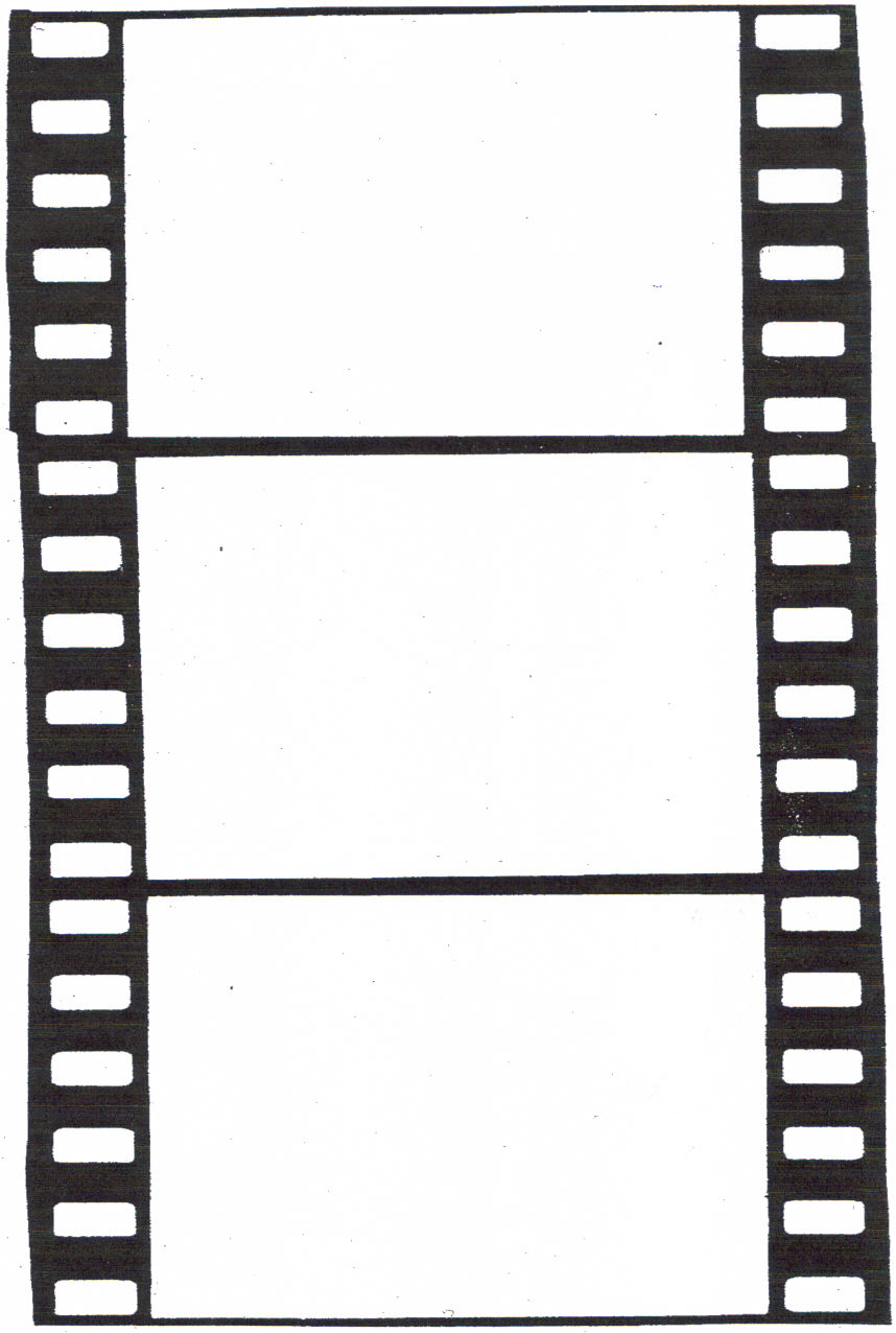 Film strip template for free clipart best for Printable film strip template