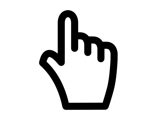 Hand Pointer Icon Png
