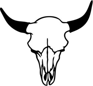 Cow Skull Line Drawing