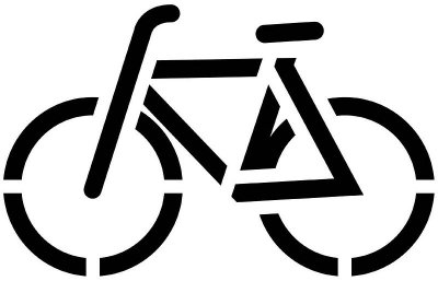 Bike stencils clipart best for Recycle stencil printable