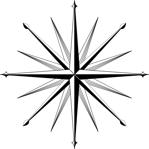 Wind Rose Compass Rose clip art Free Vector