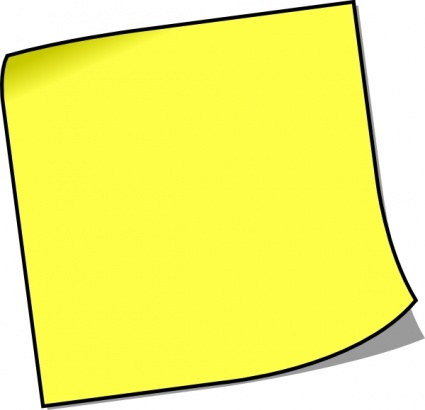 Blank Post It Note - ClipArt Best