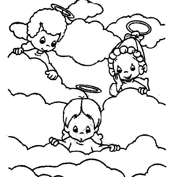 Precious Moments Angels Clip Art & Coloring Pages