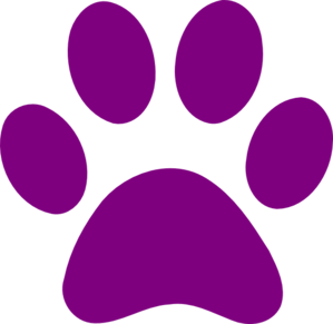 Purple Paw Print clip art - vector clip art online, royalty free ...