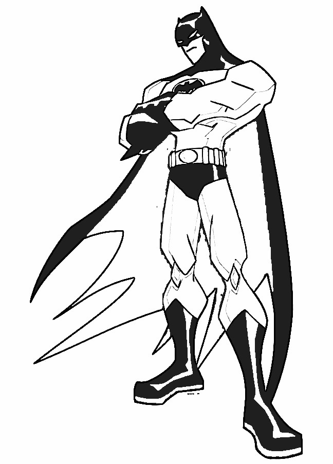 Cartoon Hero Drawing Batman Super Hero Cartoon