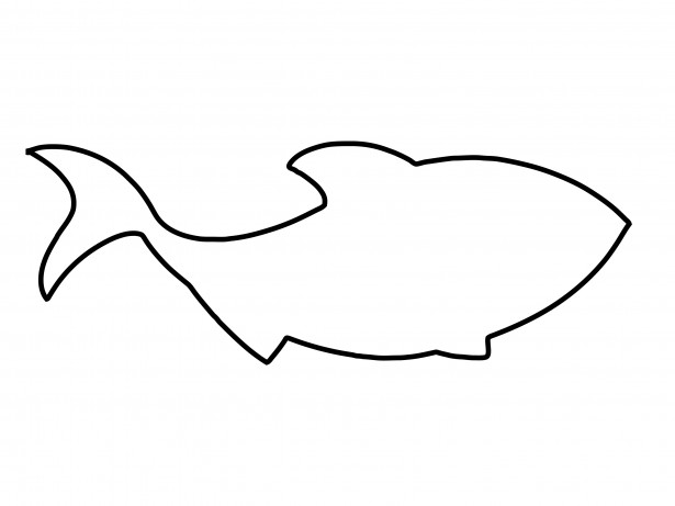 simple outline fish clipart best