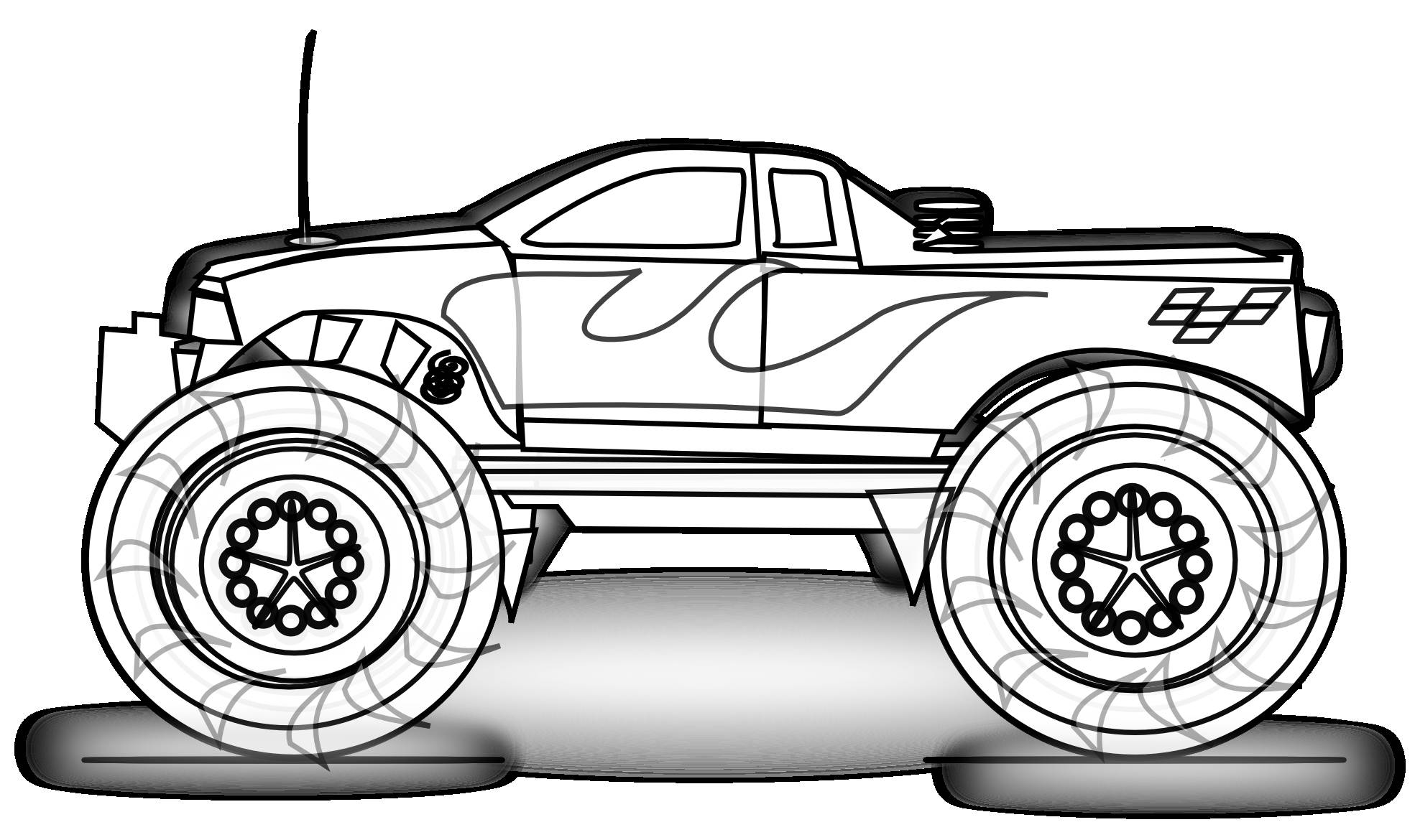 free monster truck clip art - Free Monster Truck Coloring Pages