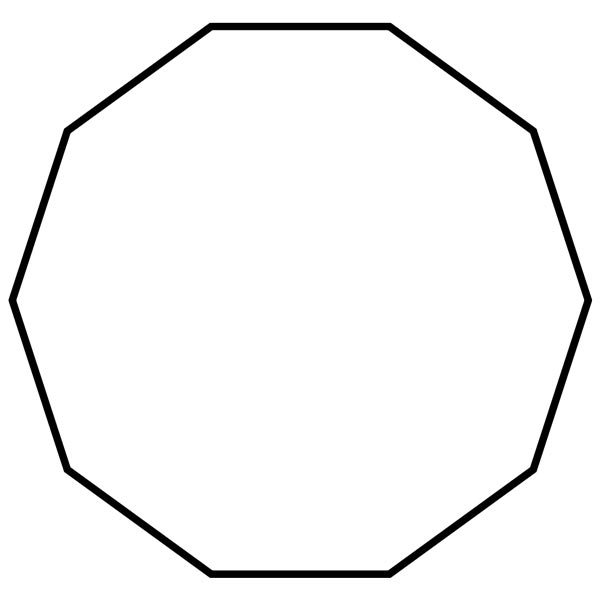 how to draw a perfect decagon