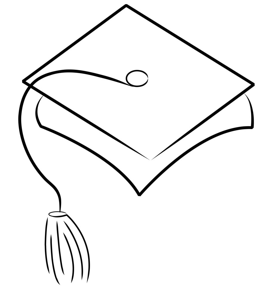 Graduation Cap And Gown Coloring Pages - Coloring Pages