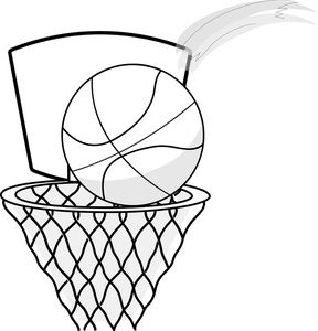 Tournament basketball defense clipart black and white - ClipartFox