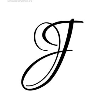 Capital: Capital J In Cursive