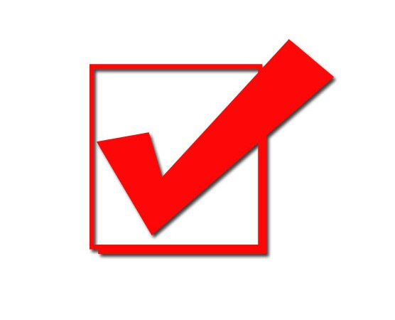 Image result for red check mark in box