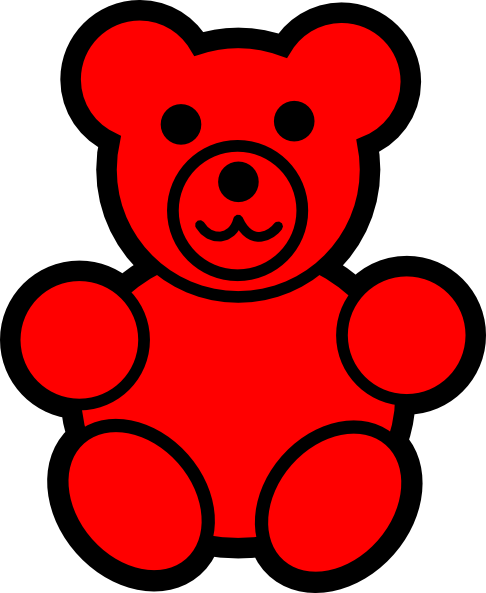 Clip Art Gummy Bear Clipart gummy bear clip art clipart best red vector online royalty gummy