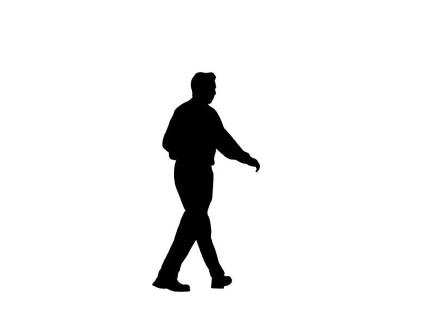 presentationpro silhouette man walking people away