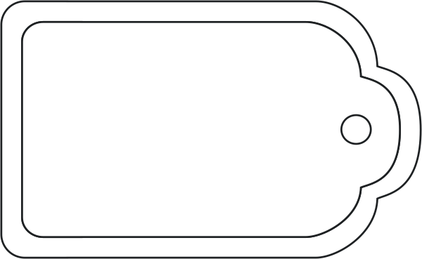 Blank Gift Tag Outline Blank Gift Tag Template - ClipArt ...