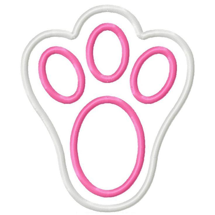 bunny feet template printable - bunny paw print clip art clipart best