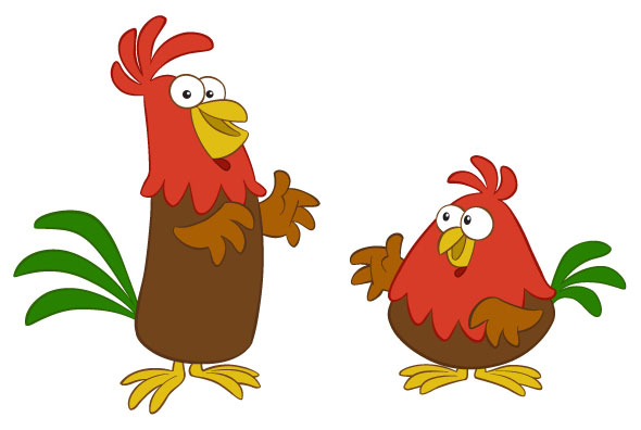 animated roosters clipart best