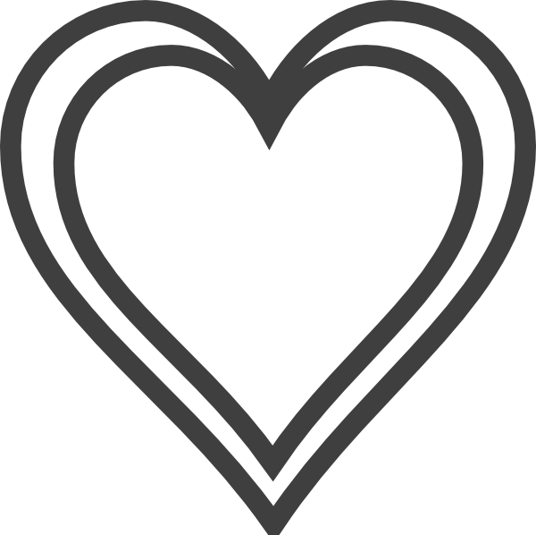 Hearts Outline Clipart
