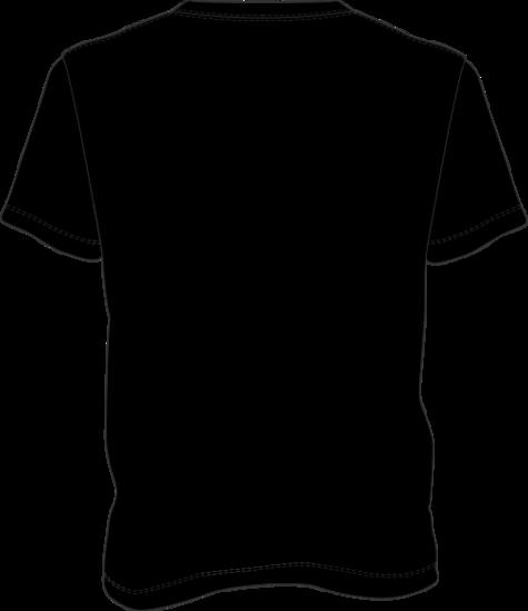 T shirt back clipart best for Black t shirt back