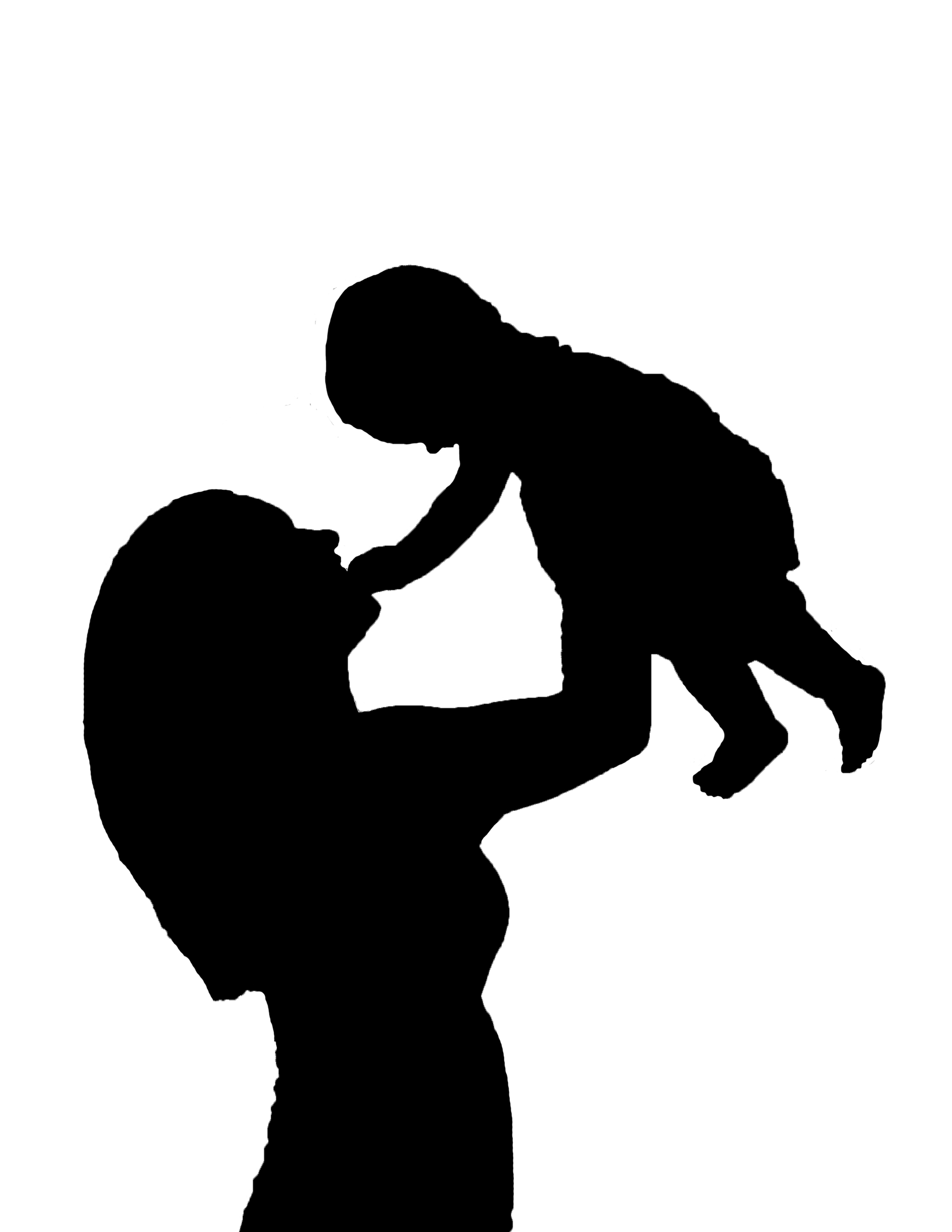mom and baby silhouette clipart best