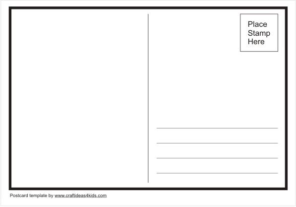 postcard template crafts ideas for kids clipart best clipart