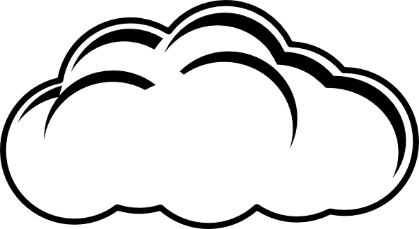 Pin Cloud Outline Drawing
