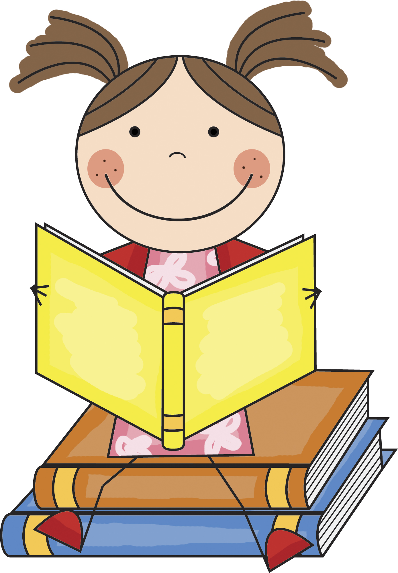 Girl Reading Book Clip Art - ClipArt Best