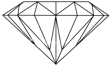 Diamond In Top View Illustration  Can Stock Photo