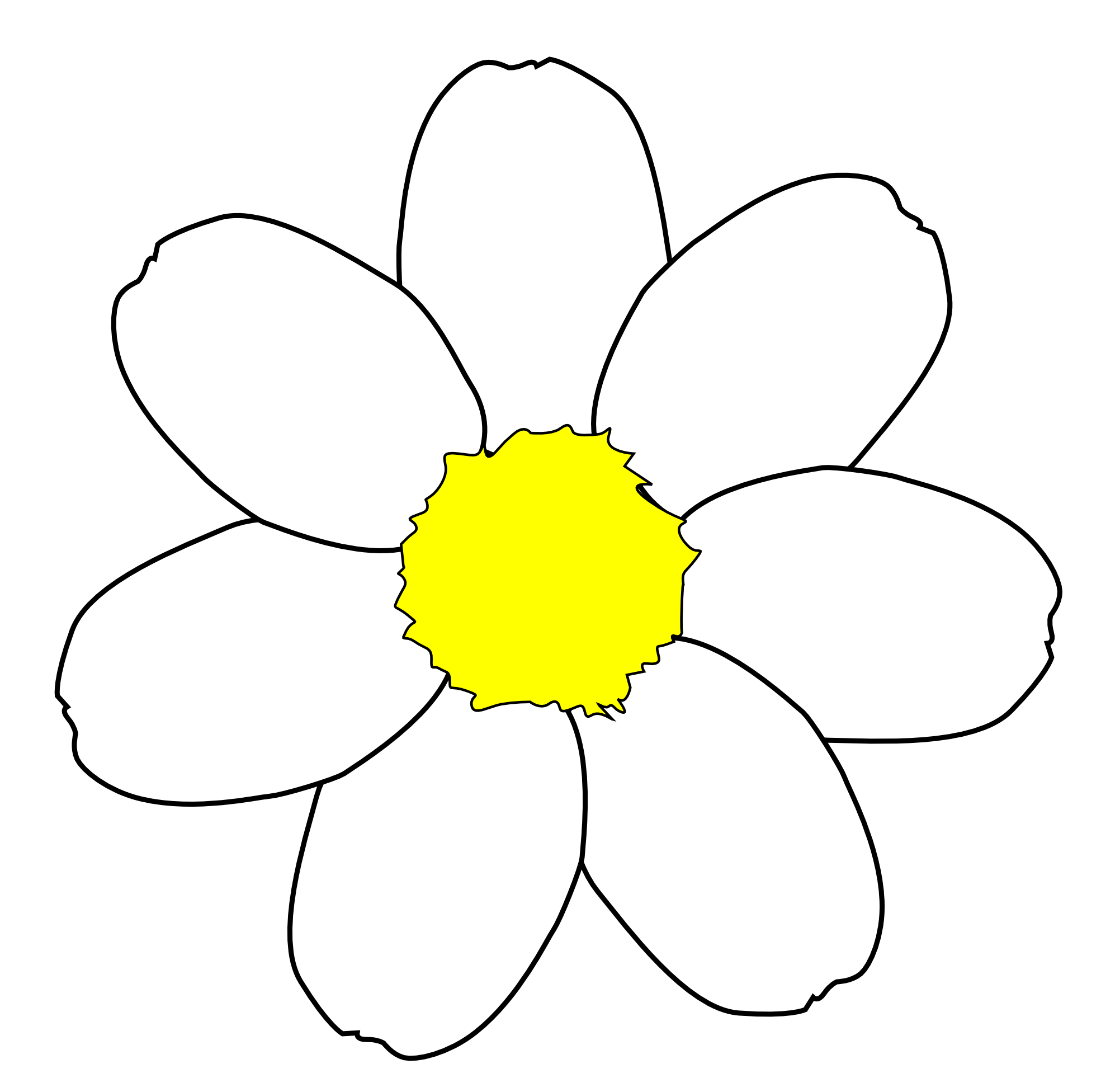 Daisy Flower Outline ClipArt Best