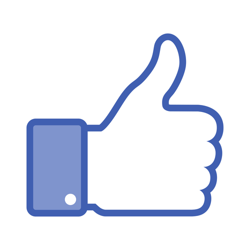 Facebook thumbs up -