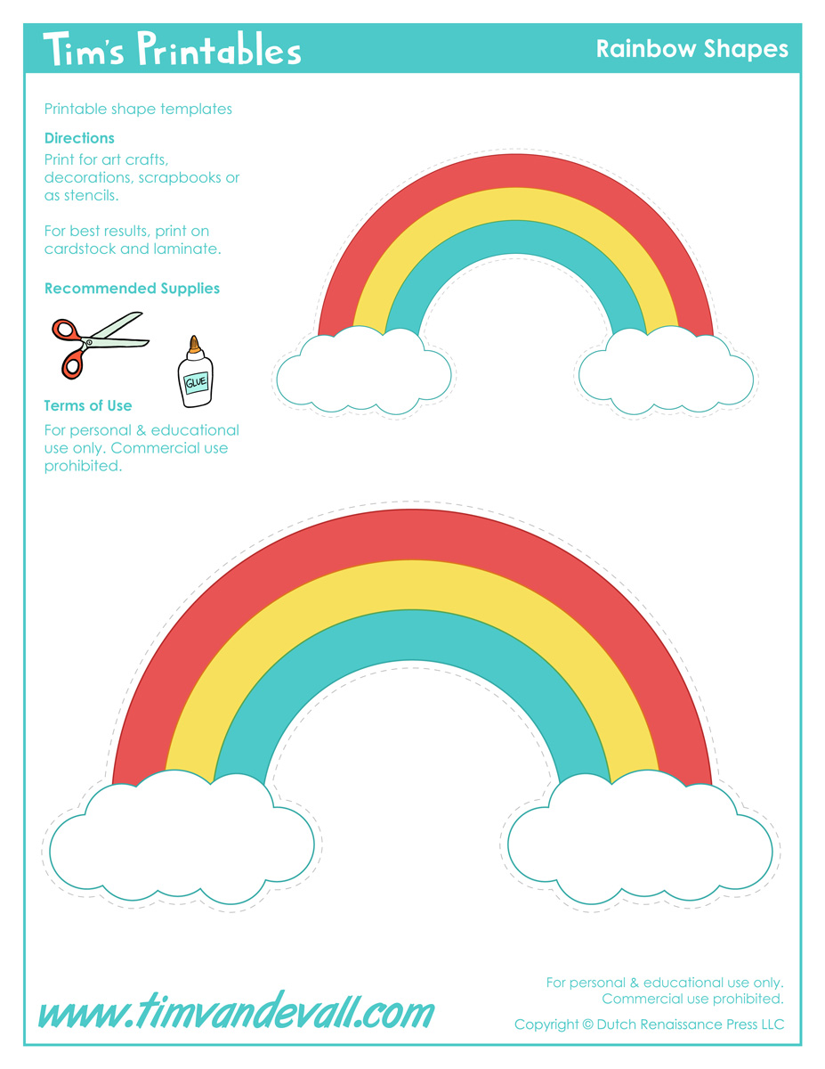 rainbow templates to colour - rainbow template clipart best
