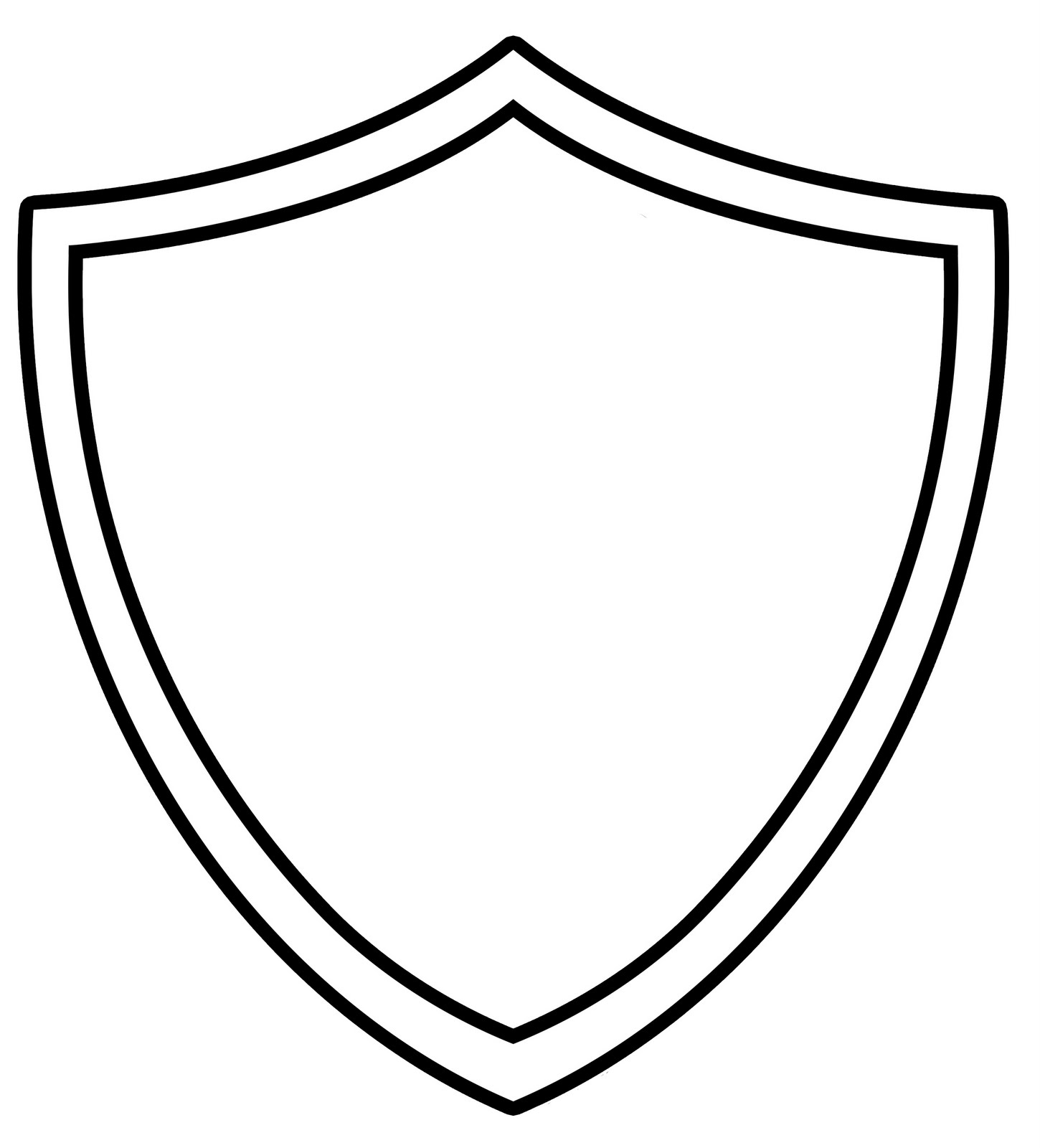 Blank family crest clipart best for Blank shield template printable