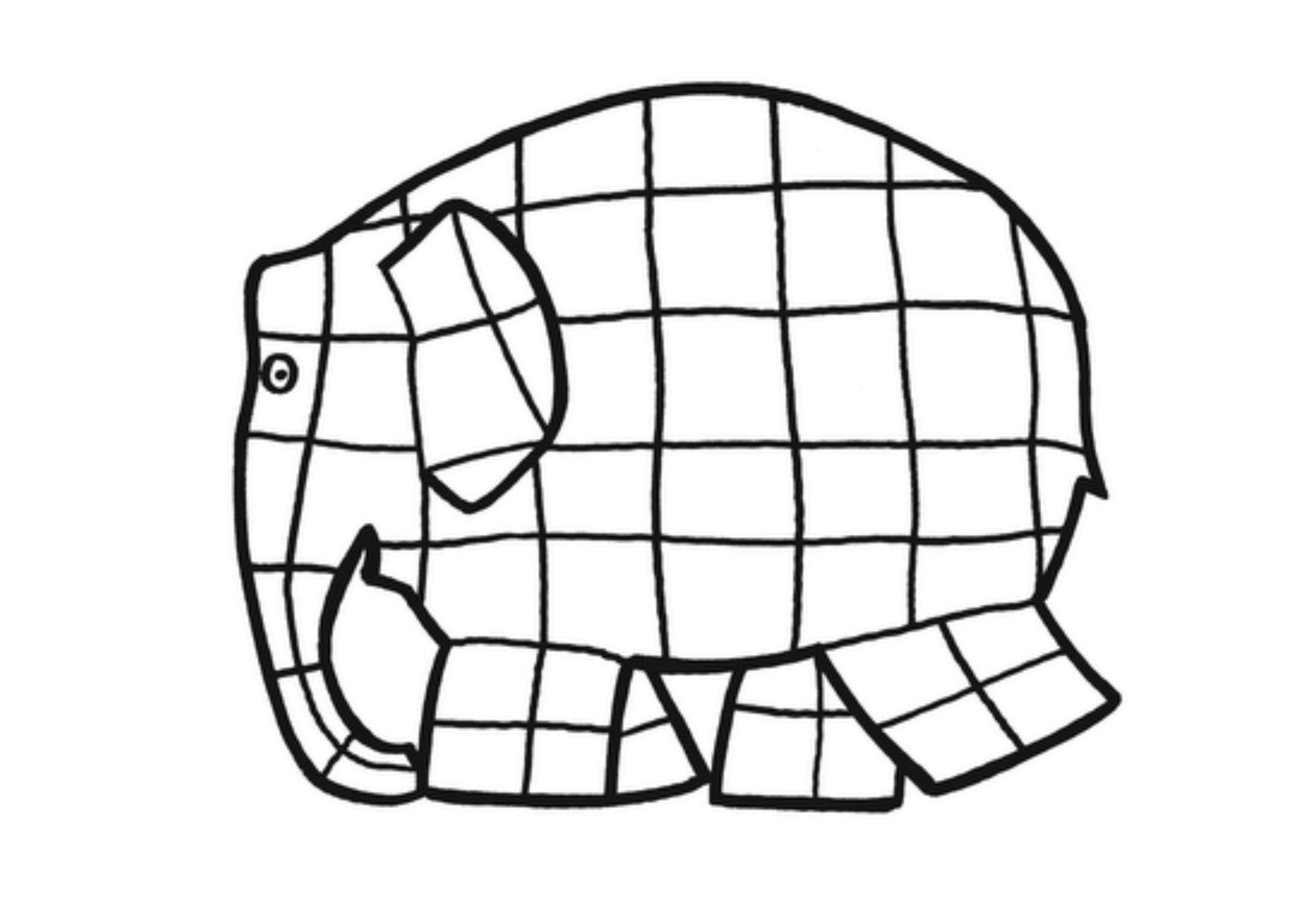 Coloring Book Pages With Elephant : Elmer elephant coloring page clipart best
