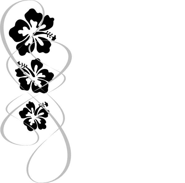 hibiscus tattoos black and white clipart best. Black Bedroom Furniture Sets. Home Design Ideas