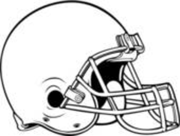 Football Helmet Outline Helmet Outline Clip Art Clker