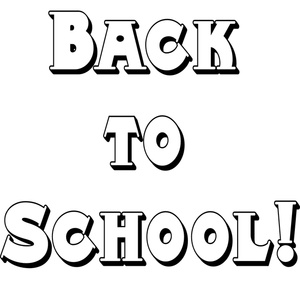 Back To School Clipart Image - Back to School! Text Banner